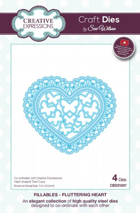FILLABLES COLLECTION - Fluttering Heart CED21007